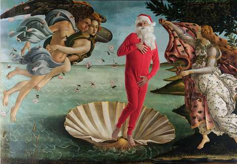 Artistic Reinterpreted Holiday Art - 'Santa Classics' Infuses Saint Nick into Famous Paintings