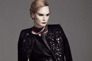 Henrietta Hellberg Rocks Edgy Black and Gold Looks in This Editorial