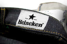 Beer-Branded Denim - The Heineken X Neighborhood Denim Collection Exudes Quality