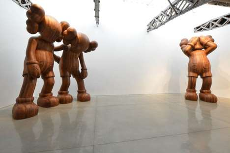 Disheartened Giant Artworks - The KAWS Wooden Sculptures is the Latest Iteration of Campanion