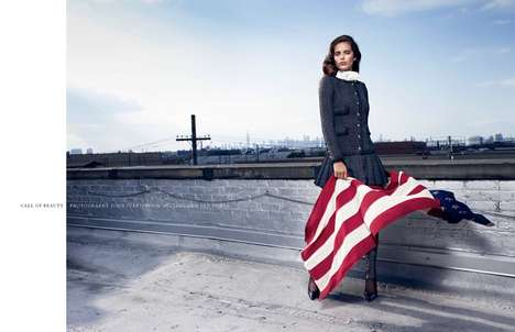 Ladylike Americana Fashion - The Intermission Magazine Issue 8 Photoshoot Stars Emily DiDonato