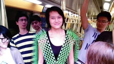 Space-Creating Subway Styles - The Spike Away Gives Public Transit Riders More Personal Space