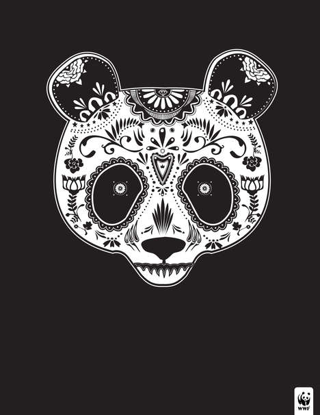 Endangered Sugar Skull Animals - These Endangered Species are Designed Like Day of the Dead Skulls