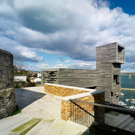 Functional Cliffside Structures - The Architectural Element Improves Ribadeo Tourism Transportation
