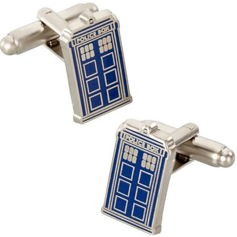 Timeless Tardis Cufflinks - These Doctor Who Cufflinks Let Whovians Wear Their Love on Their Sleeves