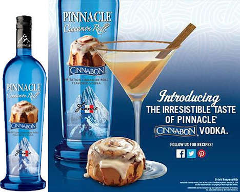 Cinnamon Roll-Flavored Vodka - Pinnacle Cinnabon Vodka is an Industry-First Confectionary Concoction