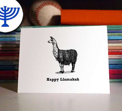 Hanukkah Yarmulke Cards - This Jewish Greeting Card That Uses a Pun is Festive and Entertaining