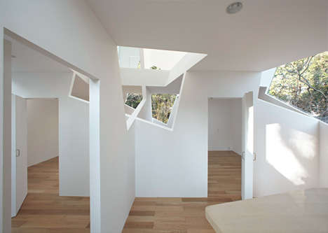 Oddly Lit Abodes - This Home Has Strange Windows Which Light the Structure in a Fantastic Way