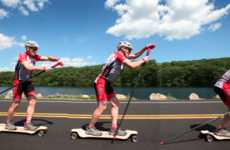 The Spikeboard Combines Nordic Skiing with Longboard Skateboarding