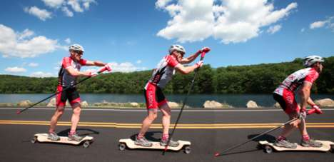 Fitness-Focused Skateboards - The Spikeboard Combines Nordic Skiing with Longboard Skateboarding
