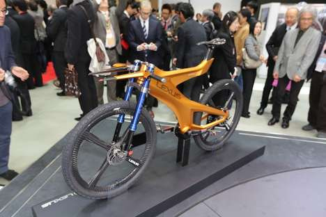 Automaker Backcountry Bike Concepts - The Lexus NXB Mountain Shows the Future of Mountain Biking