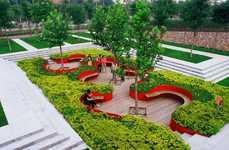 Sunken Garden Seating - The Bridge Gardens by Turenscape is an Urban Oasis