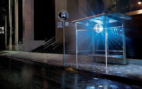 Nightclub-Inspired Bus Shelters - The Disco Bus Stop Turns Waiting into a Groovy Experience