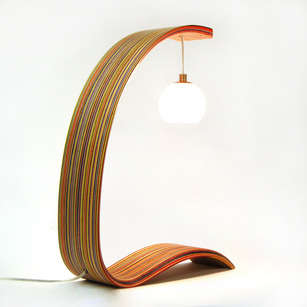 Curvy Skateboard Lighting - The Skatelamp by MapleXO is an Urban Upcycled Design
