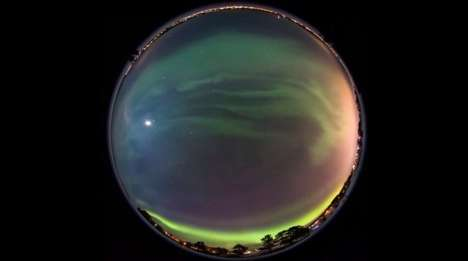 Northern Lights Browser Panoramas - These Aurora Borealis Photos Create the Perfect Panoramic View