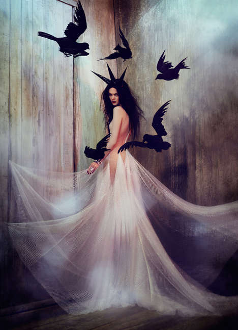Nightmarish Fairy Queen Photos - These Fantasy Photos are Inspired by the Evil Maleficent