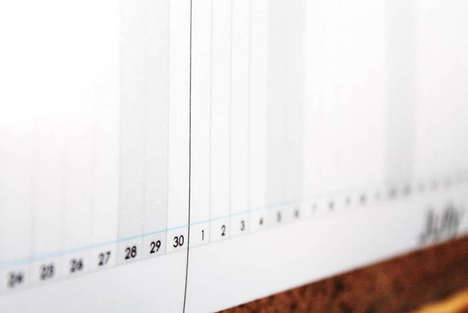 MinimalistLinear Timeline Calendars - The 6 Foot-Long Calendar Helps You Plan Your Year in Style