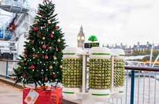 Vegetable-Powered Christmas Trees