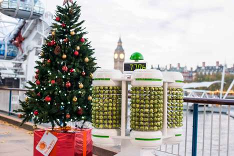 Vegetable-Powered Christmas Trees - This Eco Christmas Tree is Lit Up Entirely by Brussels Sprouts