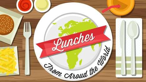Global Lunch Infographics - The Lunch Chart Shows Worldwide Lunch Habits