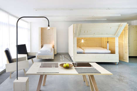 Boxy Bedroom Designs - Atelierhouse Demonstrates the Creative Practice of Thinking Inside of the Box