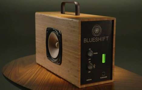 Amplified Bluetooth Powered Speakers - The Blueshift Helium Portable Speaker Charges in Five Minutes