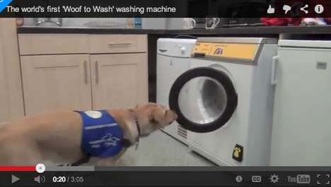 Bark-Activated Washers - The 'Woof to Wash' Lets Dogs Do Your Laundry for You