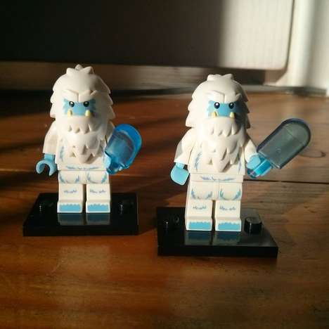 Icy Creature Block Figures - LEGO Yeti Sasquatch Toy is a Winter-Perfect Present