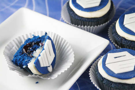 Sci-Fi Anniversary Sweets - These Dr. Who Cupcakes Were Made For the Shows 50th Anniversary