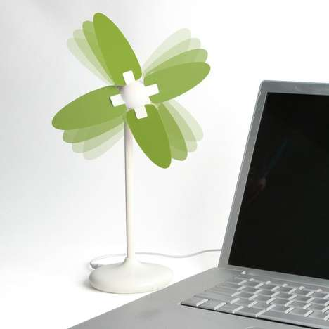 Pint-Sized Electronic Windmills - This USB Windmill Fan Will Keep You Cool and Stylish