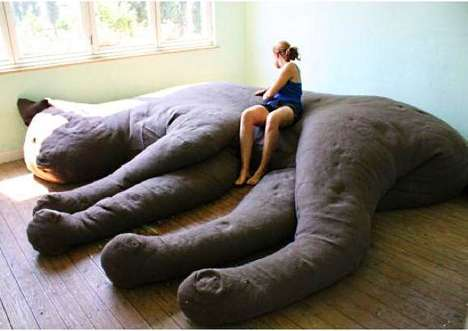 Ginormous Feline Furniture - The Belgium Design Studio 'Unfold' Unfolds the Giant Cat Couch