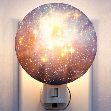 Luminous Space Night Lights - The Galaxy Night Light by Kikkerland Illuminates Like Outer Space