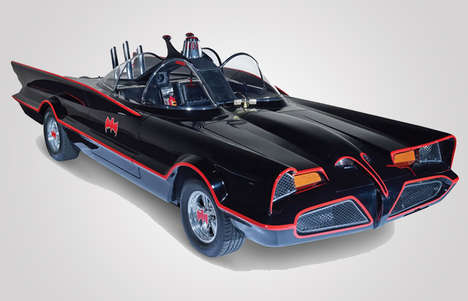 Flame-Throwing Car Collectibles - This Highly Detailed Batmobile Replica is Ready for the Road