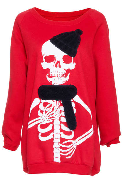 Winter-Ready Skeleton Sweaters - This Skeleton Shirt from 'Romwe' is All Wrapped Up for