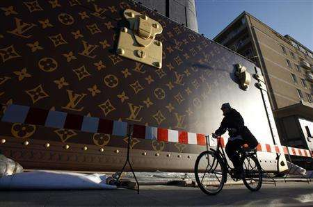 Designer Trunk Towers - A Colossal Louis Vuitton Trunk Recently Took Over Moscow