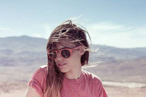 Sustainable Parisian Sunglasses - These Fashionable Sunglasses are Stylish and 100% Biodegradable