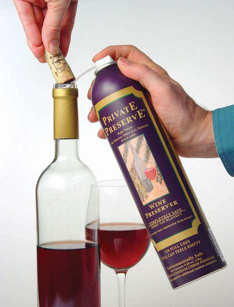 Wine Preservation Sprays - The Wine Preserver Spray is Maintenance in a Can