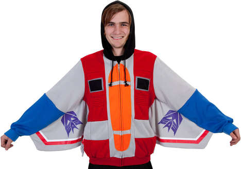 Retro Decepticon Sweatshirts - The Starscream Hoodie is Perfect for Cosplayers