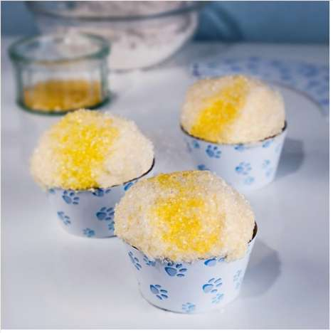 yellow snow cupcakes