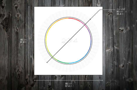 Orbiting Circular Calendars - The 2014 Wall ASR Calendar Has a Circular Clock Face Design