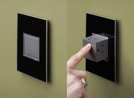 Sleek Concealed Power Sources - The Pop-Out Outlet is a Beautiful Solution to an Ugly Problem