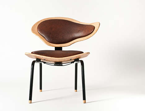 Sculptural Topographical Seating - The Poise Chair by Louw Roets is All About Grace and Balance