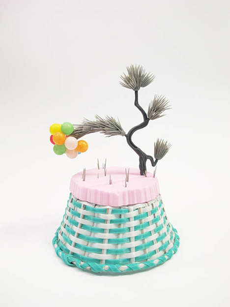 Colorful Crate Sculptures - BaskeTREE by Amy Santoferraro Converts the Ordinary into Extraordinary