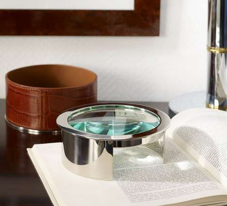 Reptile-Robed Magnifying Glasses - Ralph Lauren Designs a Big Magnifying Glass for Your Home Office