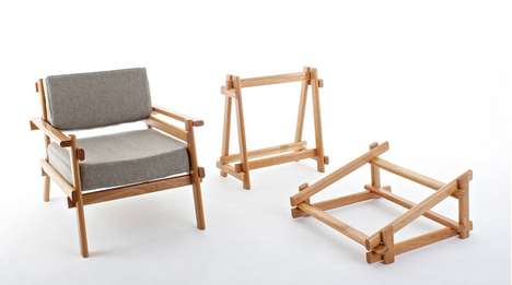 Simplistic Frame Furniture - This Scandinavian Furniture by Sam Grieg Stresses Simplicity & Cohesion