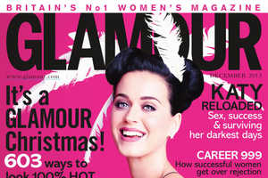 Katy Perry is Unwrapped for Glamour UK December 2013