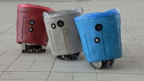 Adorable Robot Garbages - The Sociable Trash Box Teaches Children Wear to Throw Rubbish