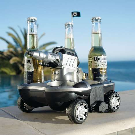 Aquatic Beverage-Baring Vehicles  - This Remote Control Toy Goes Above and Beyond to Get You Tipsy