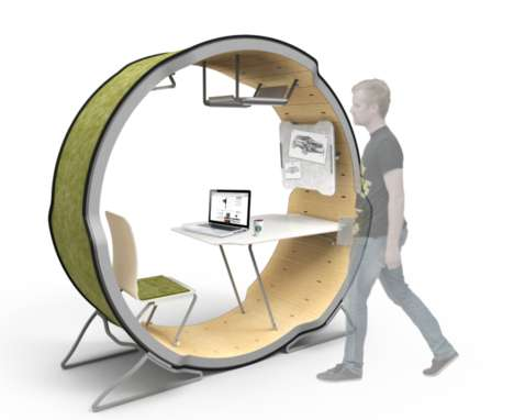 Adaptable Ring Escritoires - The Gaia Workstation Explores an Intriguing Roundabout Office Solution