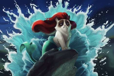 10 Amusing Meme Mash-Ups - From Grumpy Cat Intruding on Disney to Condescending Films Wonka